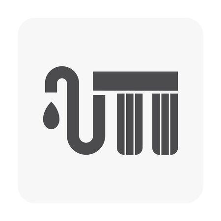 passoire icône sur fond blanc