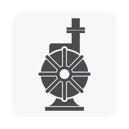 Icona della pompa idraulica su fondo bianco
