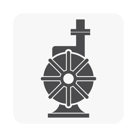Water pump icon on white background Illustration
