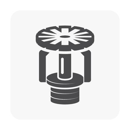 Fire sprinkler icon on white background  イラスト・ベクター素材