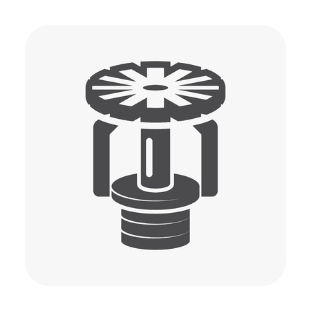 Fire sprinkler icon on white background