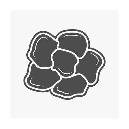 Concrete paver block floor icon on white. Stock Vector - 99444896