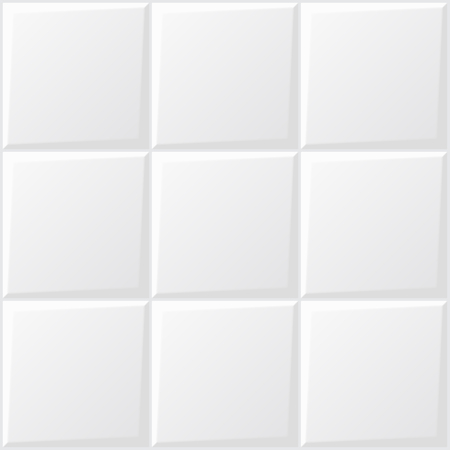 Vector of white tile for background. Vectores