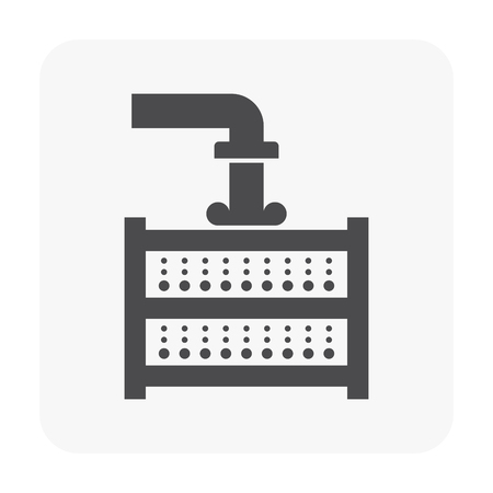 Water filter icon on white background.