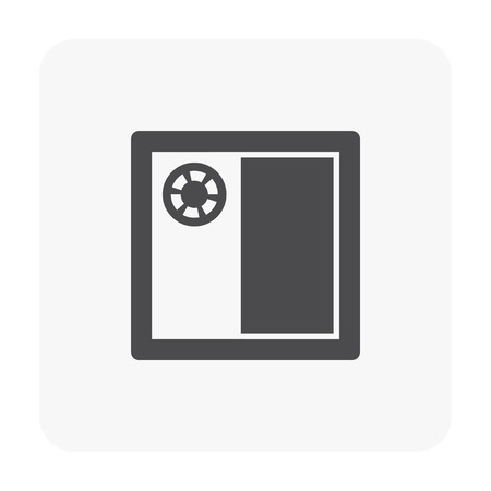 Roof deck and drainage equipment icon on white background. Illustration
