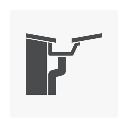 Rain gutter icon on white background.