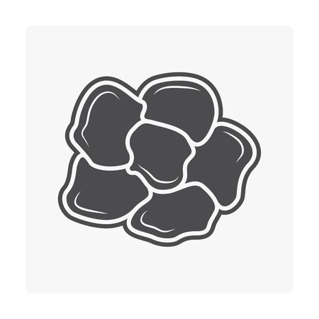 Concrete paver block floor icon on white bckground. Stock Vector - 99703533