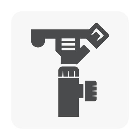 Water sprinkler icon on white background. Ilustração