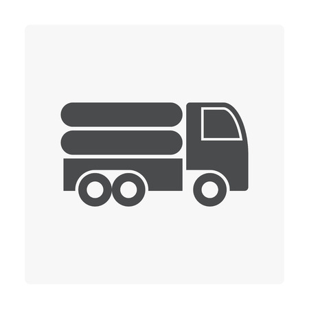 Gas storage and transportation icon.