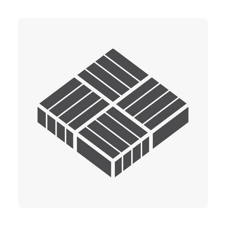 Concrete paver block floor icon on white. Stock Vector - 99884268