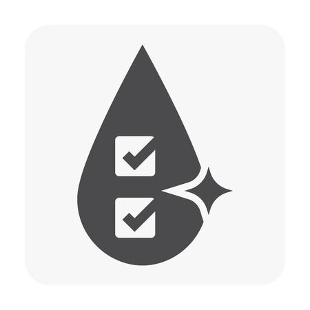 Water treatment icon on white.