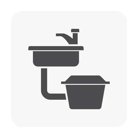 Grease trap icon on white.