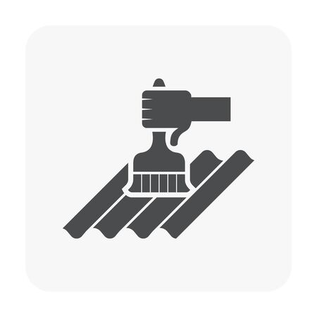 Waterproof and equipment icon on white.
