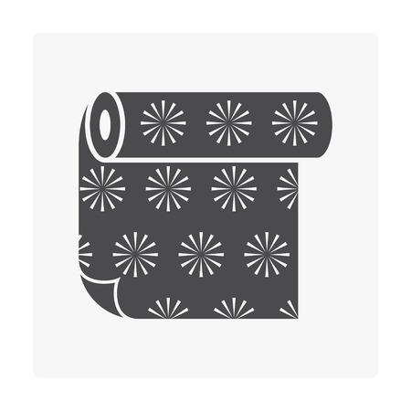 Linoleum floor icon on white.