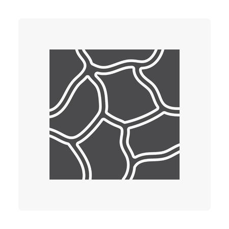 Stone floor icon on white. Stockfoto - 100510985
