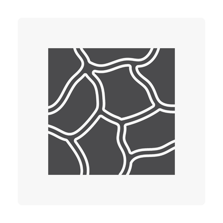 Stone floor icon on white. Ilustrace