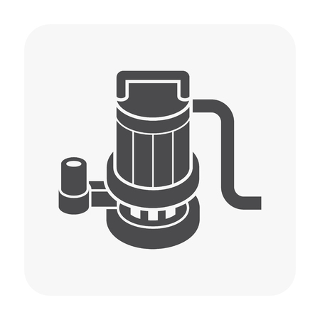 Water pump icon on white background.
