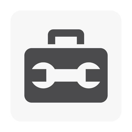 Toll box icon illustration on white background.