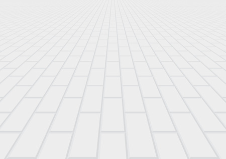 Vector of paver brick floor in perspective view for background. Stock Illustratie