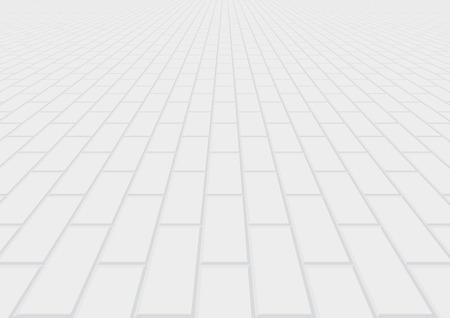 Wektor podłogi cegła brukarz w widoku perspektywicznym na tle.