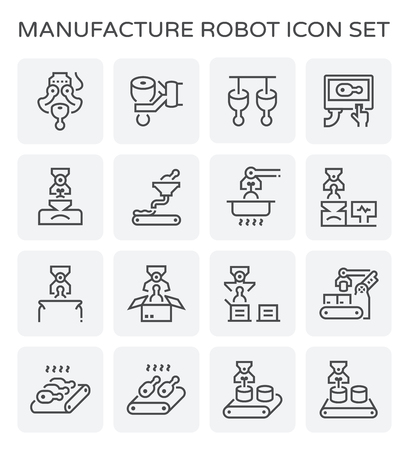 Food processing and pork icon set. Illustration