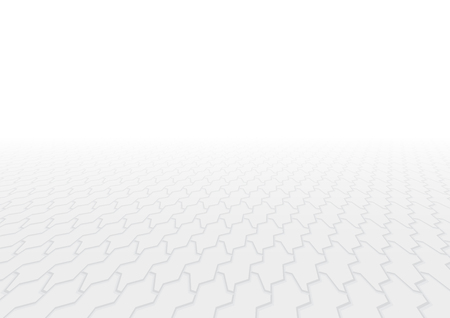 Vector of paver brick floor in perspective view for background. Illustration