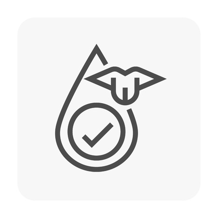 Water filtration and equipment icon.