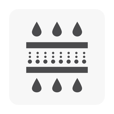 Water filter icon on white.