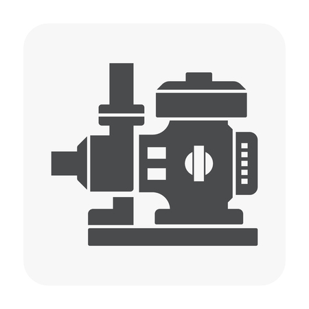 Water pump icon on white.