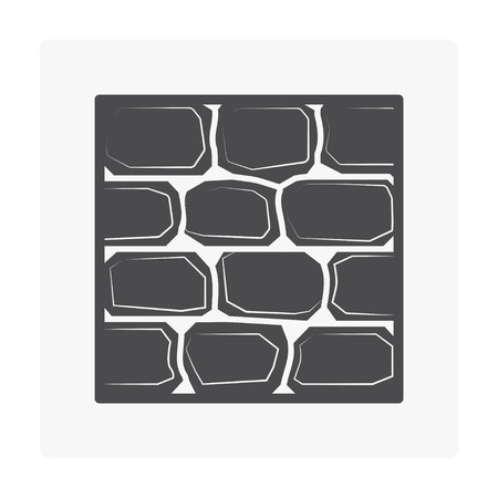 Wall and material icon on white.