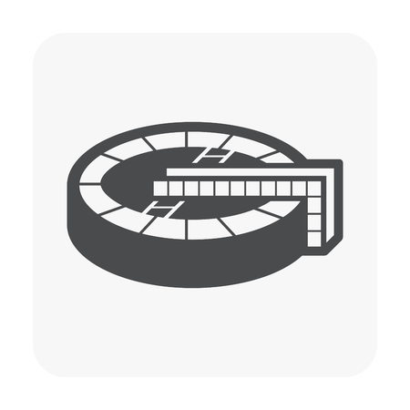 Sedimentation tank icon on white. Illustration