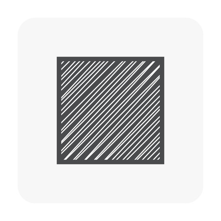 Metal product icon on white.