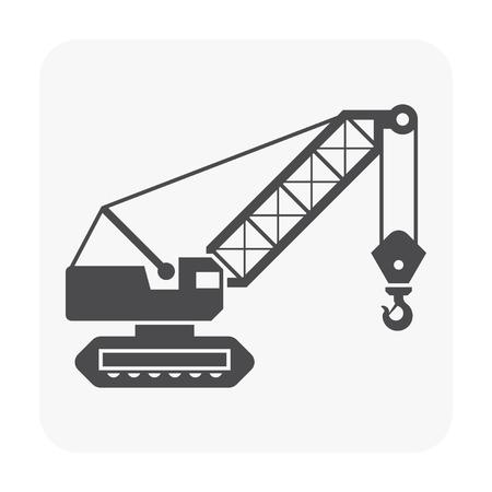 Crane hook icon on white.