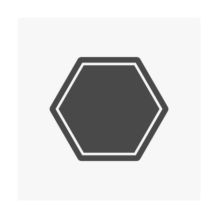 Concrete paver block floor icon on white. Stock Vector - 103487641