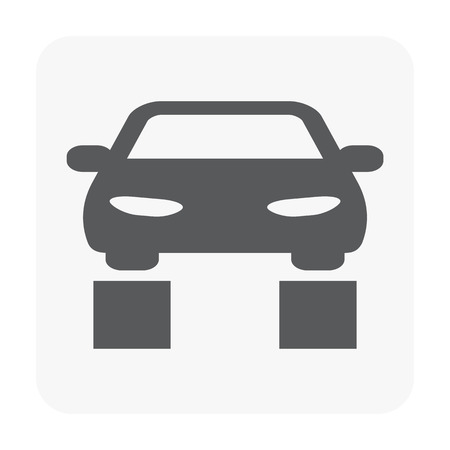 Car center icon on white. Vettoriali