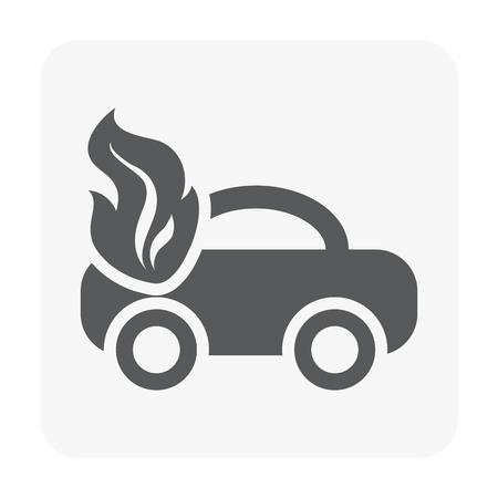 Car accident icon on white.