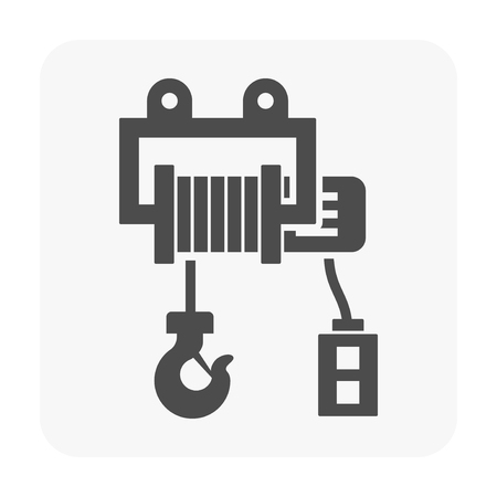 Winch icon on white.