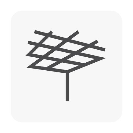 Icono de material y trabajo de techo.