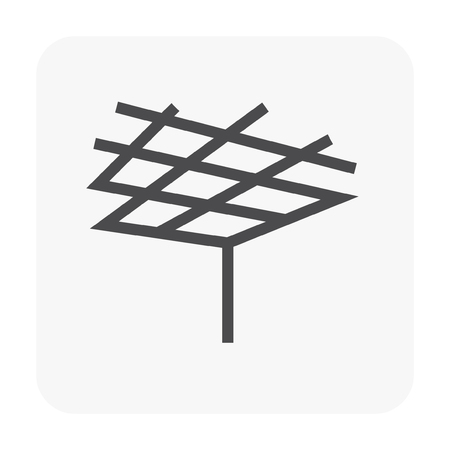 Ceiling work and material icon. Illustration