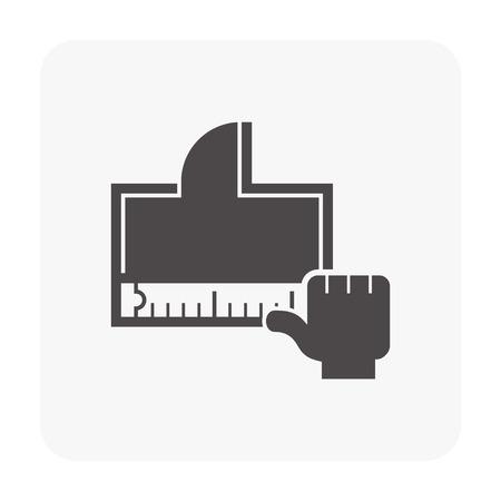 Architecture design icon on white.
