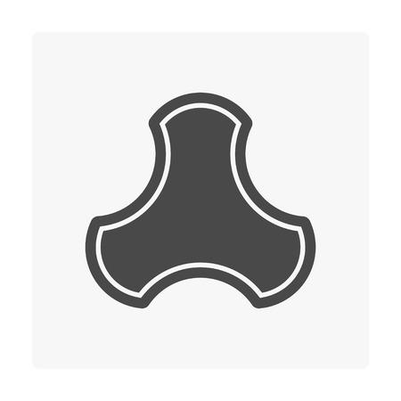 Concrete paver block floor icon on white. Stock Vector - 103696572