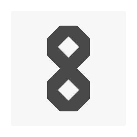 Concrete paver block floor icon on white.