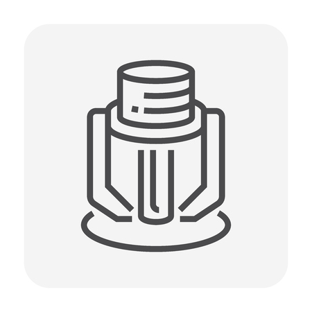 Fire sprinkler device icon, 64x64 pixel and editable stroke.