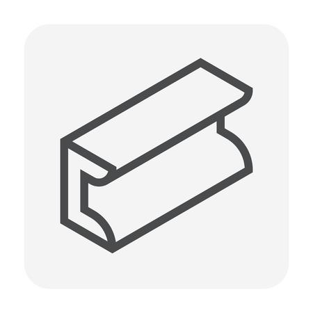Steel product icon set, 48x48 pixel and editable stroke. Stock Illustratie