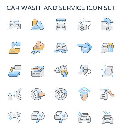Car wash and service icon  set. Vectores