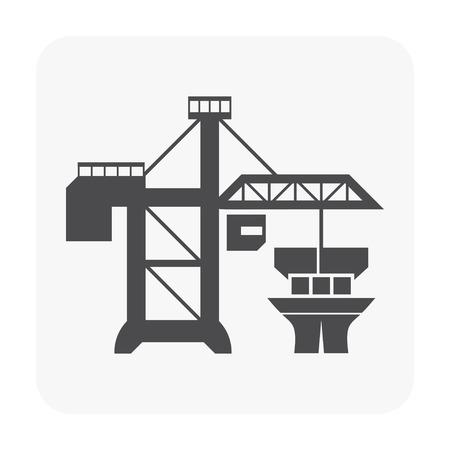 Żuraw ikona na białym tle. Ilustracje wektorowe