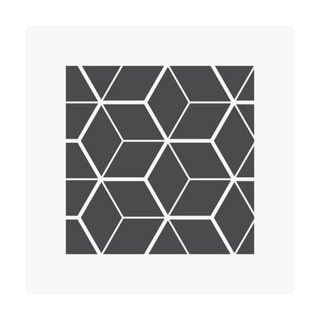 Wood floor pattern icon on white. Archivio Fotografico - 105023630