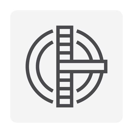 Icona del serbatoio di trattamento dell'acqua, tratto perfetto e modificabile di 48x48 pixel.