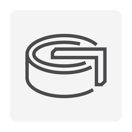 Symbol für Wasseraufbereitungstank, 48x48 Pixel perfekter und bearbeitbarer Strich.