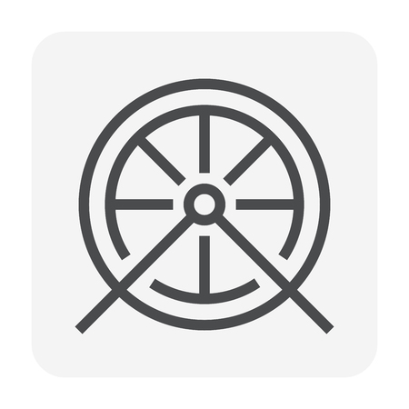 Bicycle wheel icon, 48x48 perfect pixel and editable stroke.